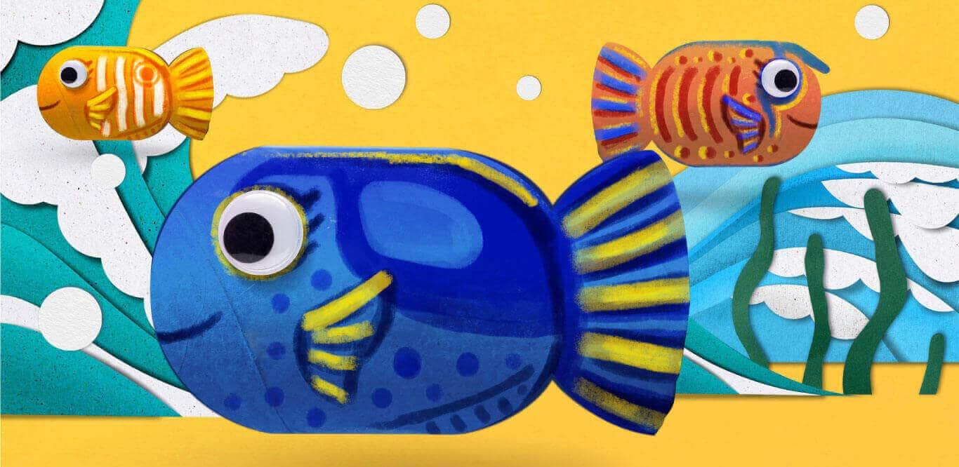 SEA Aquarium Fun Academy Toilet Roll Fish 1366x666